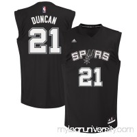 Mens San Antonio Spurs Tim Duncan adidas Black Fashion Replica Jersey -   1830514
