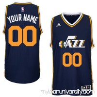 Mens Utah Jazz adidas Navy Custom Swingman Road Jersey -   1831023