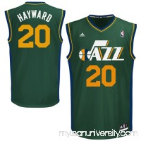 Mens Utah Jazz Gordon Hayward adidas Green Replica Alternate Jersey - 1266064