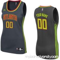 Women's Atlanta Hawks adidas Black Custom Replica Road Jersey -   2279601