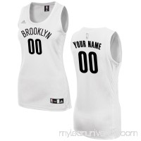 Women's Brooklyn Nets adidas White Custom Fashion Jersey - 2649716