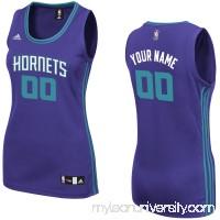 Women's Charlotte Hornets adidas Purple Custom Replica Road Jersey -   2379833