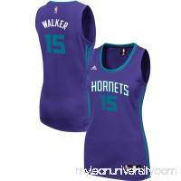 Women's Charlotte Hornets Kemba Walker adidas Purple Road Replica Jersey -   2609265