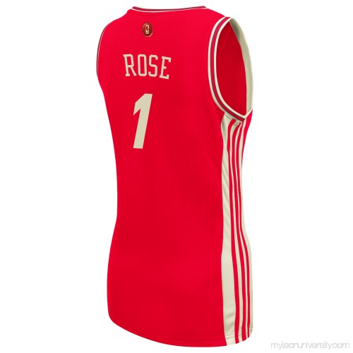 release date: 1cdce aeb25 Women's Chicago Bulls Derrick Rose adidas Red Christmas Day ...