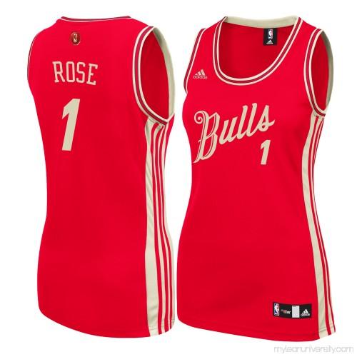 44001f2b7bb Women s Chicago Bulls Derrick Rose adidas Red Christmas Day Replica  Swingman Jersey - 2186419
