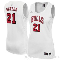 Women's Chicago Bulls Jimmy Butler adidas White Fashion Replica Jersey -   2420779