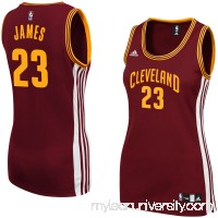 Women's Cleveland Cavaliers adidas LeBron James Wine Replica Jersey -   1994219