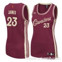 Women's Cleveland Cavaliers LeBron James adidas Burgundy Christmas Day Replica Swingman Jersey -   2186420