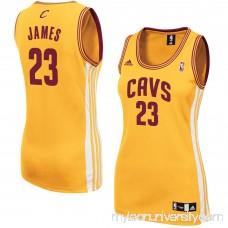 Women's Cleveland Cavaliers LeBron James adidas Gold Alternate Replica Jersey -   1937405