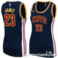 Women's Cleveland Cavaliers LeBron James adidas Navy Blue Replica Jersey -   2150679