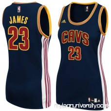 Women's Cleveland Cavaliers LeBron James adidas Navy Blue Replica Jersey -   2150679