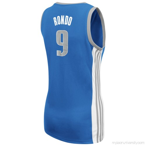 9a25ab03524b Women s Dallas Mavericks adidas Rajon Rondo Blue Replica Jersey - 2012176