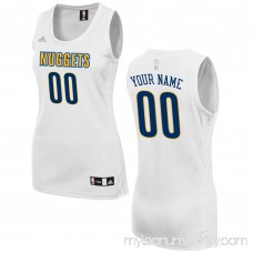 Women's Denver Nuggets adidas White Custom Fashion Jersey - 2649721