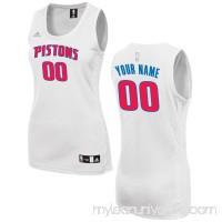 Women's Detroit Pistons adidas White Custom Fashion Jersey - 2649722