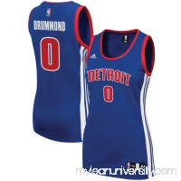 Women's Detroit Pistons Andre Drummond adidas Royal Road Replica Jersey -   2609201