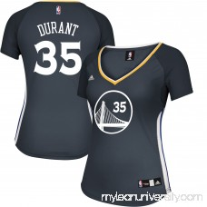 Women's Golden State Warriors Kevin Durant adidas Charcoal Alternate Replica Jersey -   2609277