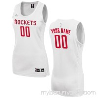 Women's Houston Rockets adidas White Custom Fashion Jersey -   2649724