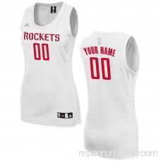 Women's Houston Rockets adidas White Custom Fashion Jersey - 2649724