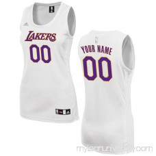 Women's Los Angeles Lakers adidas White Custom Fashion Jersey - 2649727