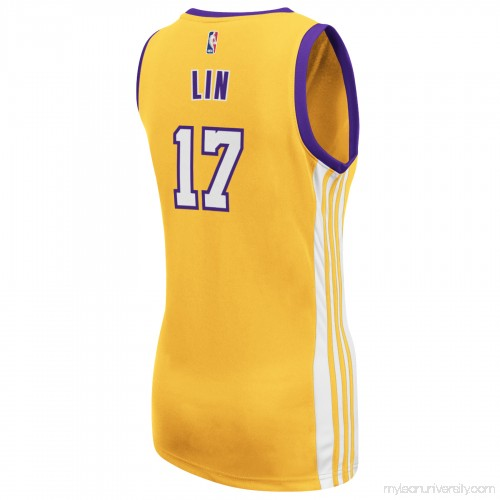 c572b850d Women s Los Angeles Lakers Jeremy Lin adidas Gold Replica Home Jersey -  1940784