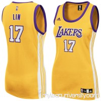 Women's Los Angeles Lakers Jeremy Lin adidas Gold Replica Home Jersey -   1940784