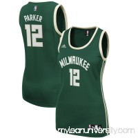 Women's Milwaukee Bucks Jabari Parker adidas Green Road Replica Jersey - 2428666