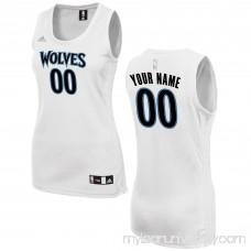 Women's Minnesota Timberwolves adidas White Custom Fashion Jersey - 2649731