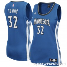 Women's Minnesota Timberwolves Karl-Anthony Towns adidas Blue Road Replica Jersey -   2420783
