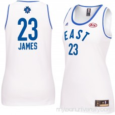 Women's NBA Eastern Conference LeBron James adidas White 2016 All-Star Game Replica Jersey - 2252889