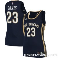 Women's New Orleans Pelicans Anthony Davis adidas Navy Road Replica Jersey -   2428670