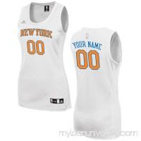 Women's New York Knicks adidas White Custom Fashion Jersey -   2649733