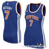 Women's New York Knicks Carmelo Anthony adidas Royal Road Replica Jersey -   2428669