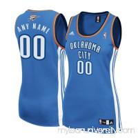 Women's Oklahoma City Thunder adidas Royal Custom Replica Road Jersey -   2339375