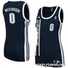 Women's Oklahoma City Thunder Russell Westbrook adidas Navy Blue Replica Jersey - 877323