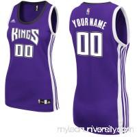 Women's Sacramento Kings adidas Purple Custom Replica Road Jersey -   2382663