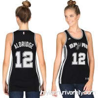Women's San Antonio Spurs LaMarcus Aldridge adidas Black Road Replica Jersey - 2345156