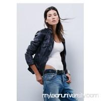 Rumpled Leather Blazer   33515941