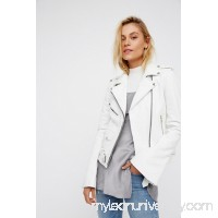 Understated Leather Bell Sleeve Jacket   40017238