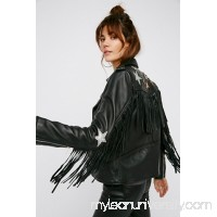 Understated Leather Metallic Night Jacket   40974677