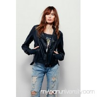 Washed Leather Moto Jacket 36736122