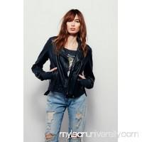 Washed Leather Moto Jacket 36736122