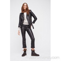 Mother The Insider Vegan Leather Crop 40974081