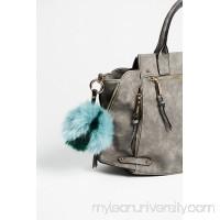 Multi Faux Fur Pompom Bag Charm 40792509