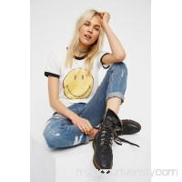 Daydreamer x Free People Smiley Ringer Tee   41591082