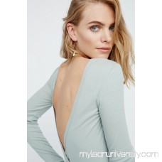 Intimately Glass Green Surplice Back Long Sleeve Layering Top 40720302