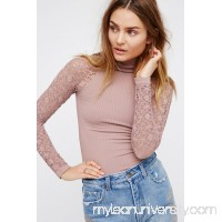 Rib and Lace Turtleneck   26347690
